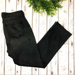 NYDJ Black Grey Marilyn Uplift Slim Straight Jeans